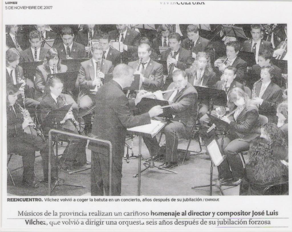 2007 Homenaje a José Luis Villchez. 5 de Noviembre