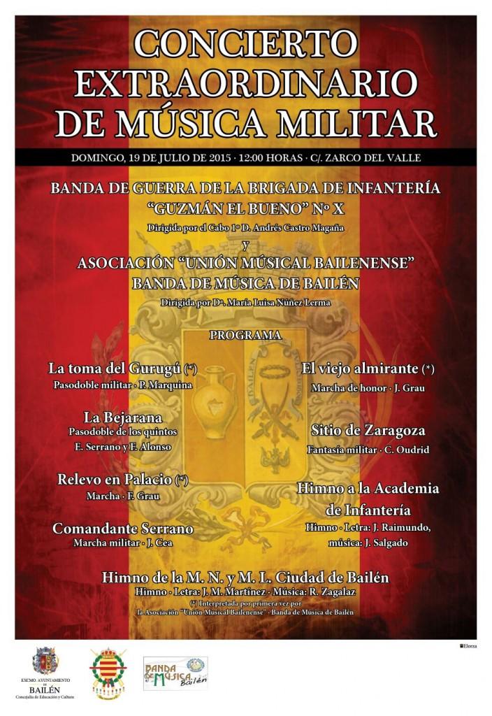 Cartel Concierto Extraordinario de Música Militar