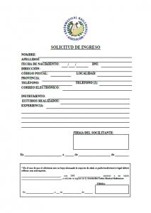 solicitud