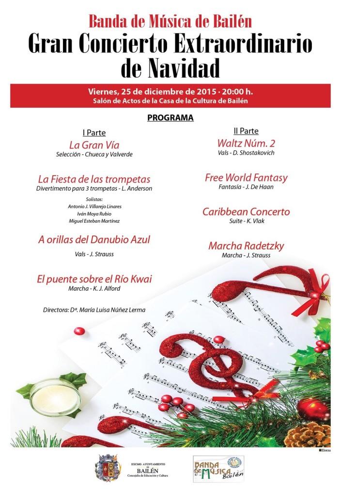 Cartel Concierto Extraodinario de Navidad 2015